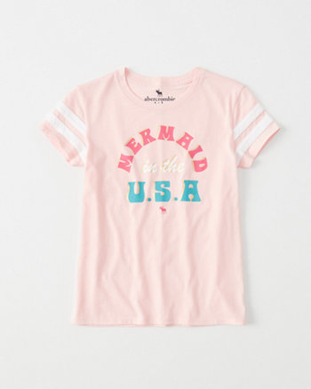 kids Sporty Graphic Shine Tee