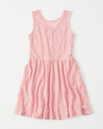 kids Lace Skater Dress