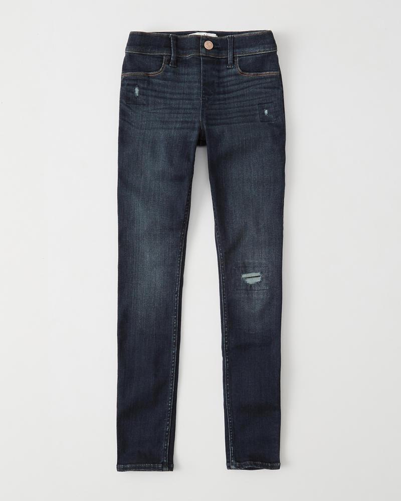 e594e04512e68 girls ripped pull-on jean legging | girls bottoms | Abercrombie.com