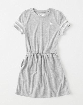 kids shine-sleeve t-shirt dress
