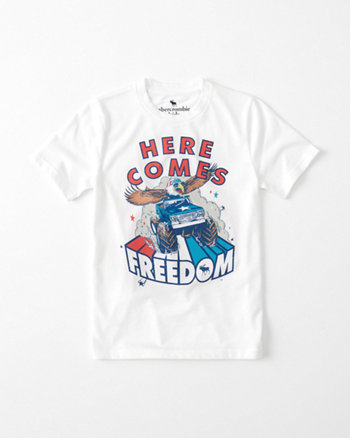 kids americana graphic tee