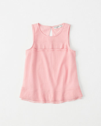 kids Chiffon Pleated Tank