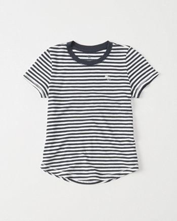 kids stripe crew tee