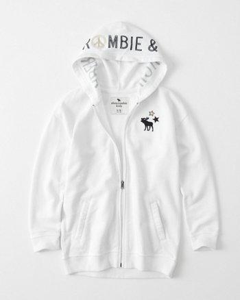 kids Full-Zip Tunic Hoodie