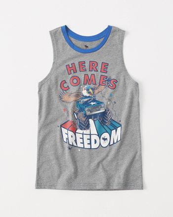 kids americana graphic tank