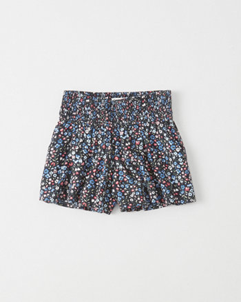 kids Pull-On Smocked Shorts