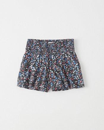 kids Pull-On Smocked Shorts
