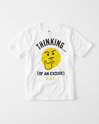 kids Emoji Printed Graphic Tee