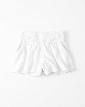 kids Lace Pull-On Smocked Shorts