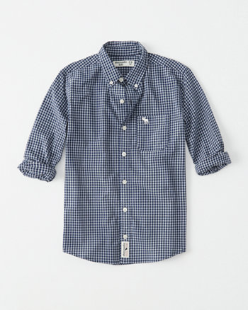 kids stretch icon button-up shirt