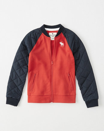 kids nylon mix icon bomber jacket