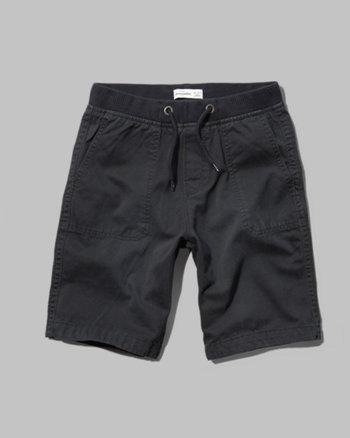 kids a&f jogger shorts