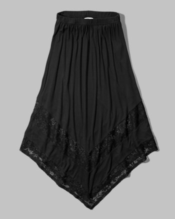 kids lace panel maxi skirt