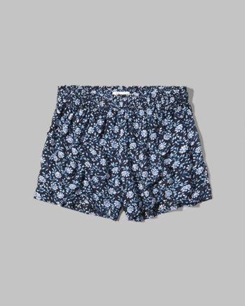 kids floral drapey shorts