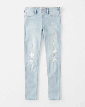 kids lace pull-on jean leggings