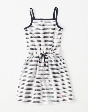 kids French Terry Drawstring Dress