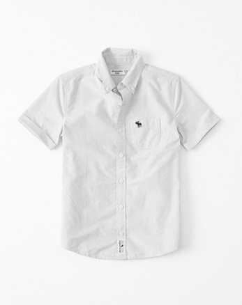 kids Short Sleeve Poplin Shirt