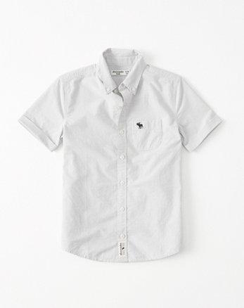 kids Short Sleeve Poplin Shirt