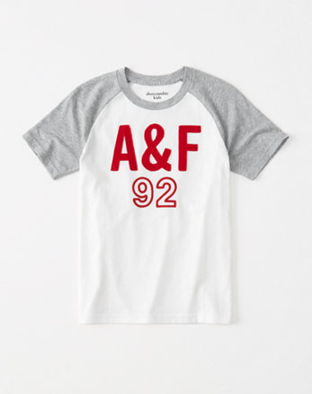 kids raglan logo graphic tee