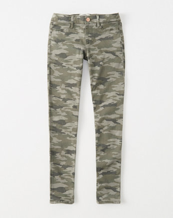 kids pull-on twill leggings