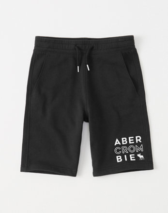 kids logo fleece shorts