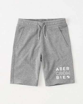 kids logo fleece shorts