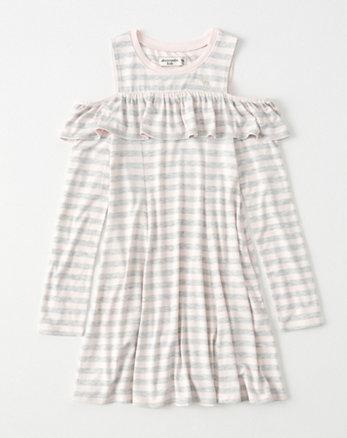 kids cold-shoulder play dress