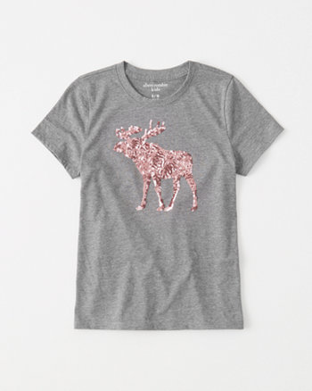 kids Sequin Logo Tee
