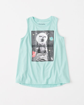kids shine graphic muscle tank