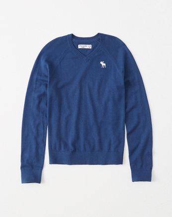 kids icon v-neck sweater
