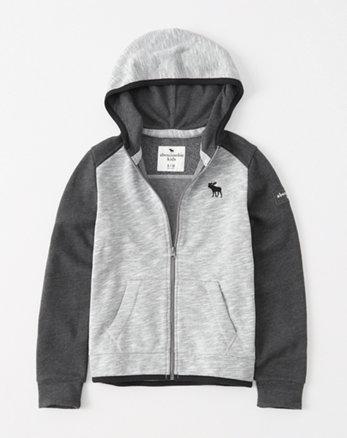 kids icon fleece full-zip hoodie