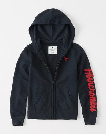 kids logo fleece full-zip hoodie