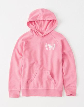 kids shine logo graphic hoodie