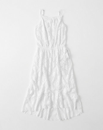 kids lace hi-low dress