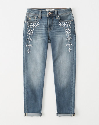 kids eyelet girlfriend jeans