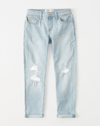 kids lace ripped girlfriend jeans