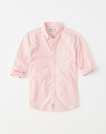 kids stretch button-up shirt