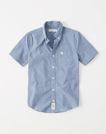 kids stretch button-up shirt