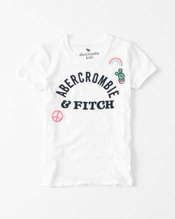 kids Fitted Patch Logo Graphic Tee