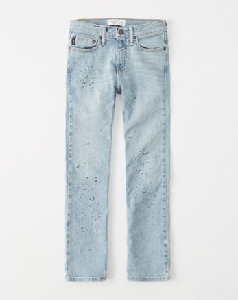kids paint splatter straight jeans