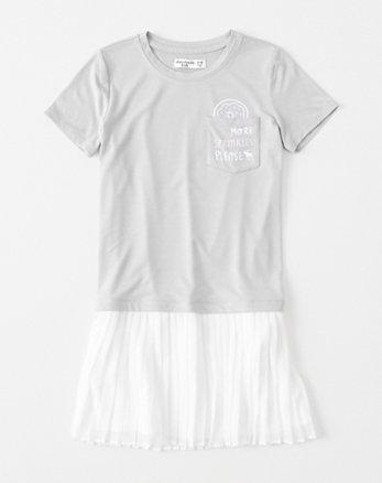 kids chiffon-hem t-shirt dress