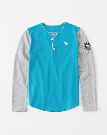 kids colorblock icon henley