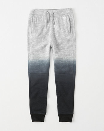 kids dip-dye moto icon fleece joggers