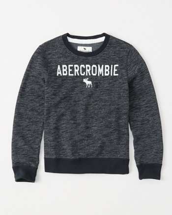 kids logo fleece sweatshirt