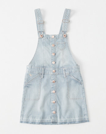 kids railroad striped denim skirtall