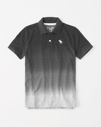 kids tie-dye icon polo