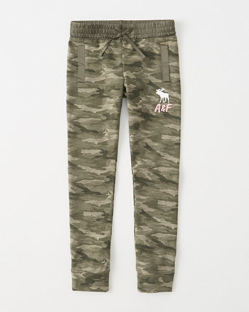 kids camo logo fleece leggings