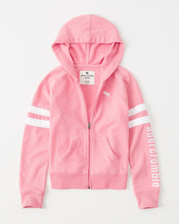 kids sporty icon full-zip hoodie