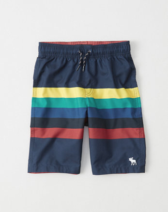 kids Patterned Boardshorts
