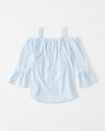 kids off-the-shoulder shirt